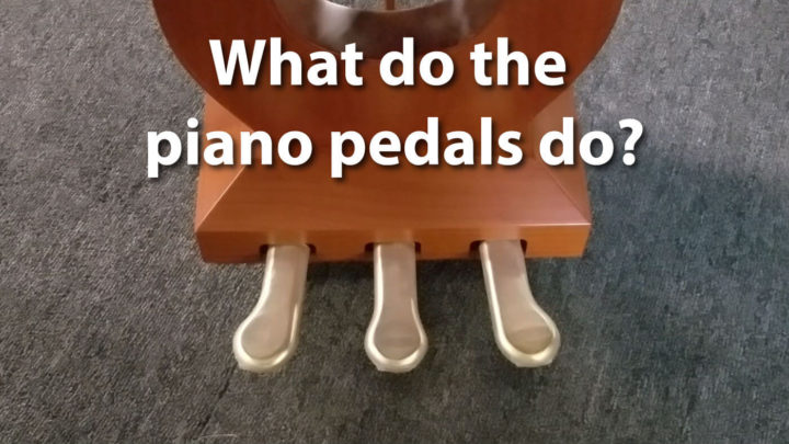 What do the piano pedals in piano