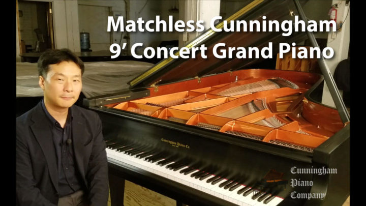 Spectacular Cunningham 9 ft. Concert Grand Piano