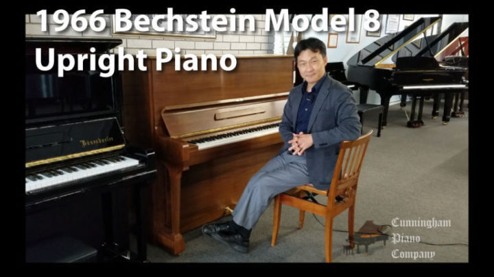 1966 Bechstein Model 8 upright piano Debussy's Favorite