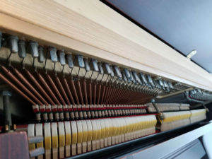 """Interior View of Charles Walter 45"""" Upright Piano"""