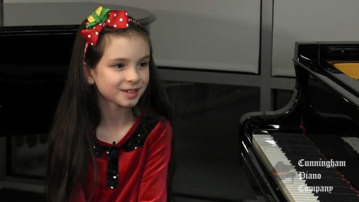 8 year old Rosemarie LoBasso Prodigy on The Cunningham Piano Show