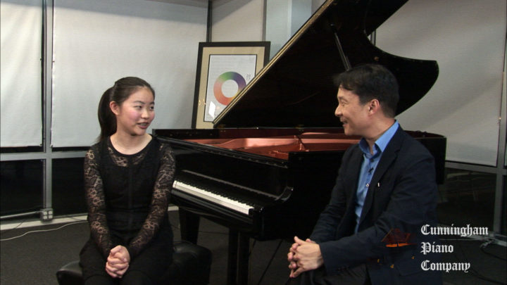 Allison Zhu 14 year old pianist on The Cunningham Piano Show