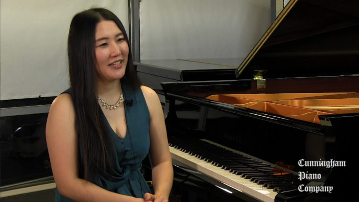 Han Nah Son sharing her experiences on The Cunningham Piano Show
