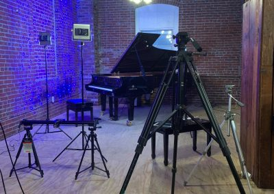 Our video production space on the 3rd floor of Cunningham's piano restoration factory