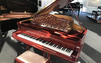 "Steinway ""O"" in rare figured wood"