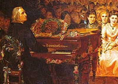 Franz Liszt  - Reputed Founder of the Bösendorfer