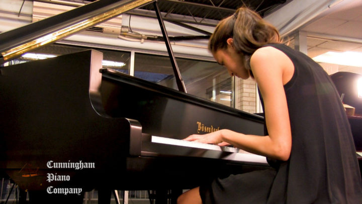 Maya Keren an 18 year old pianist on The Cunningham Piano Show