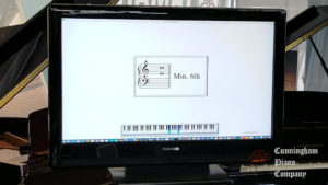Notes and cords displaying on screen