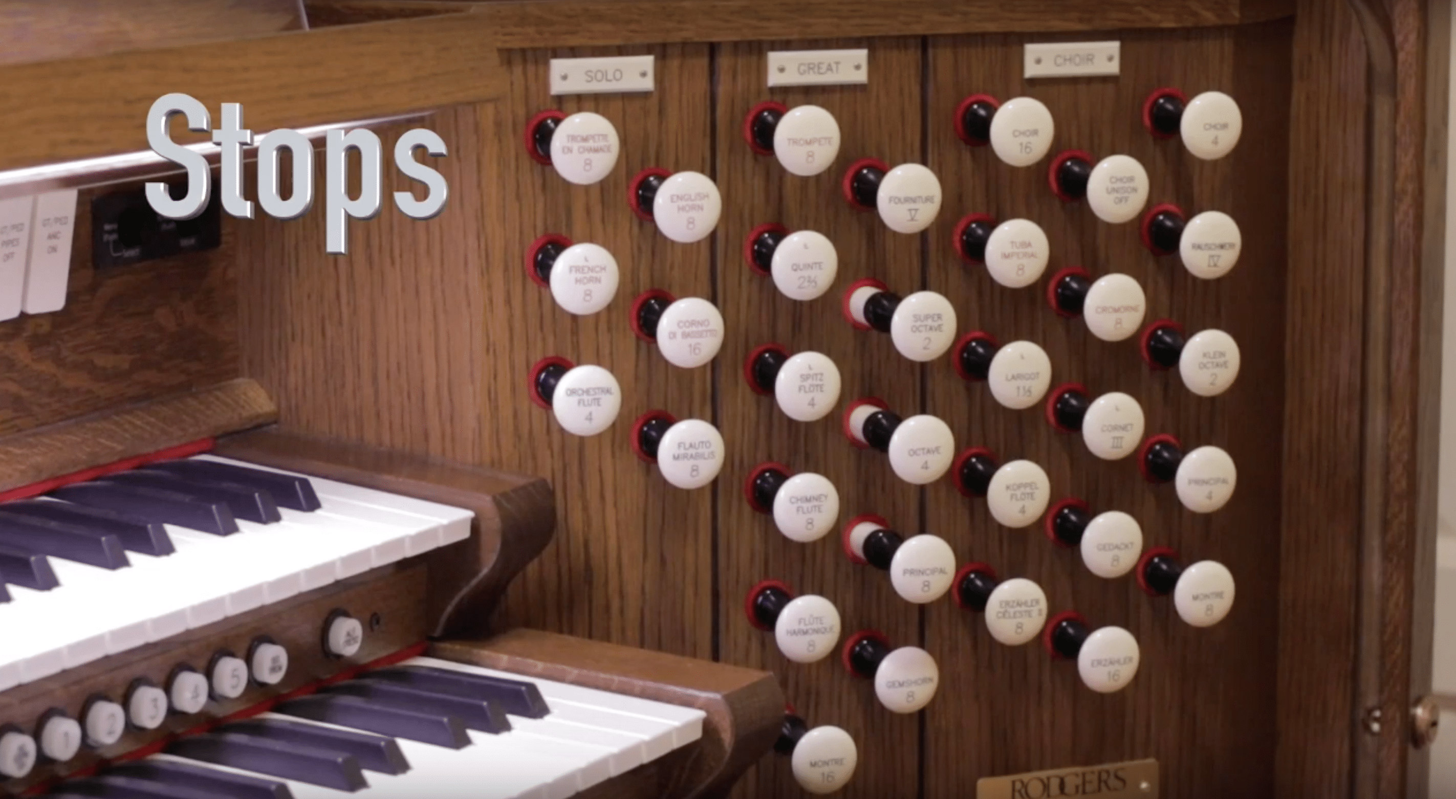 Organ stops organize the division of pipes