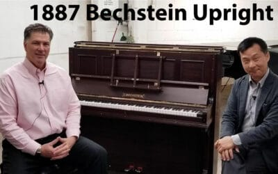 A Tropical 1887 C. Bechstein Upright Piano